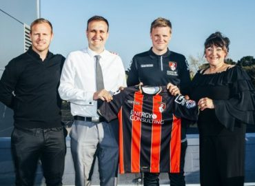 AMS Cleaning Ltd Sponsor AFC Bournemouth Jason Tindall's home kit