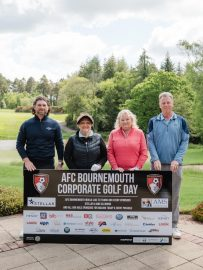 Linda Smith MD of AMS CLEANING LTD with her playing partners for the AFCB Golf Day